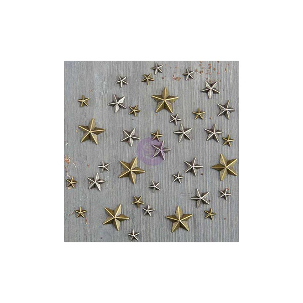 Mini Stars (36) Finnabair Mechanicals Metal Embellishments