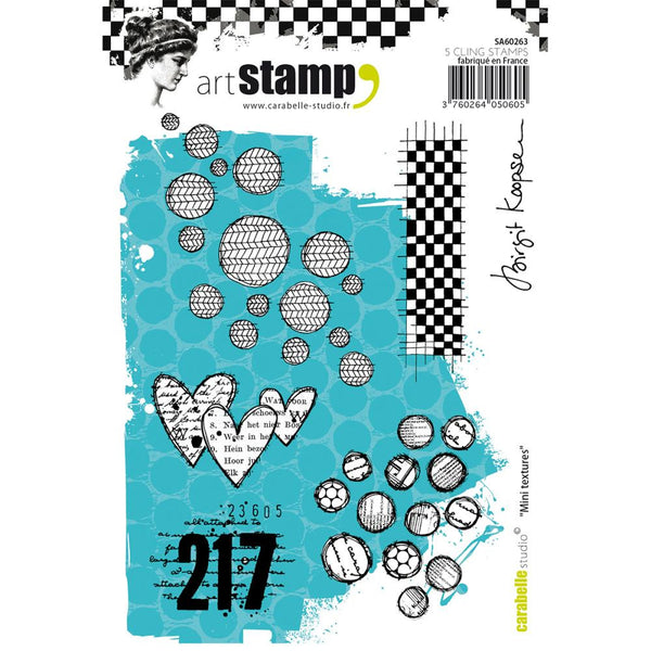 Carabelle Studio Cling Stamp A6 - Mini Textures - Artified Shop