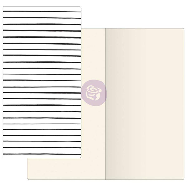 Modern Lines with Ivory Paper Prima Traveler's Journal Notebook Refill 32 Sheets - Artified Shop