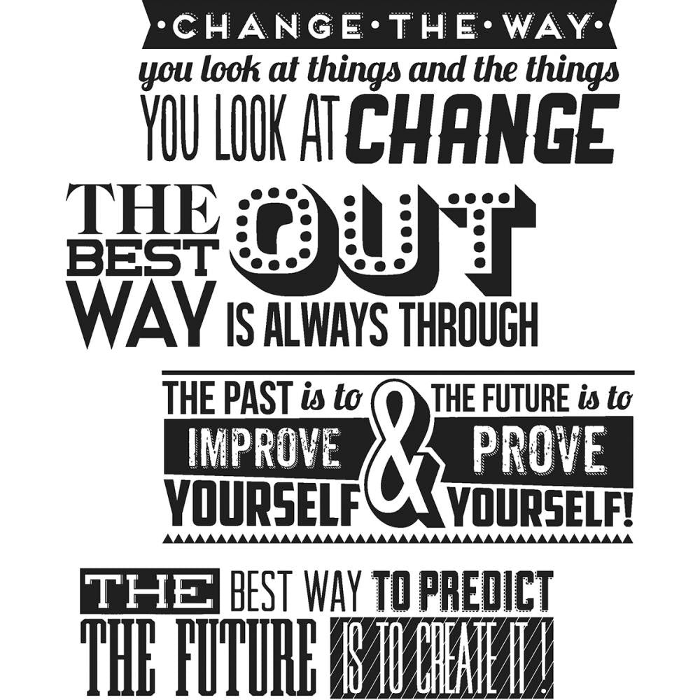 "Tim Holtz Cling Stamps 7""X8.5"" - Motivation 2"