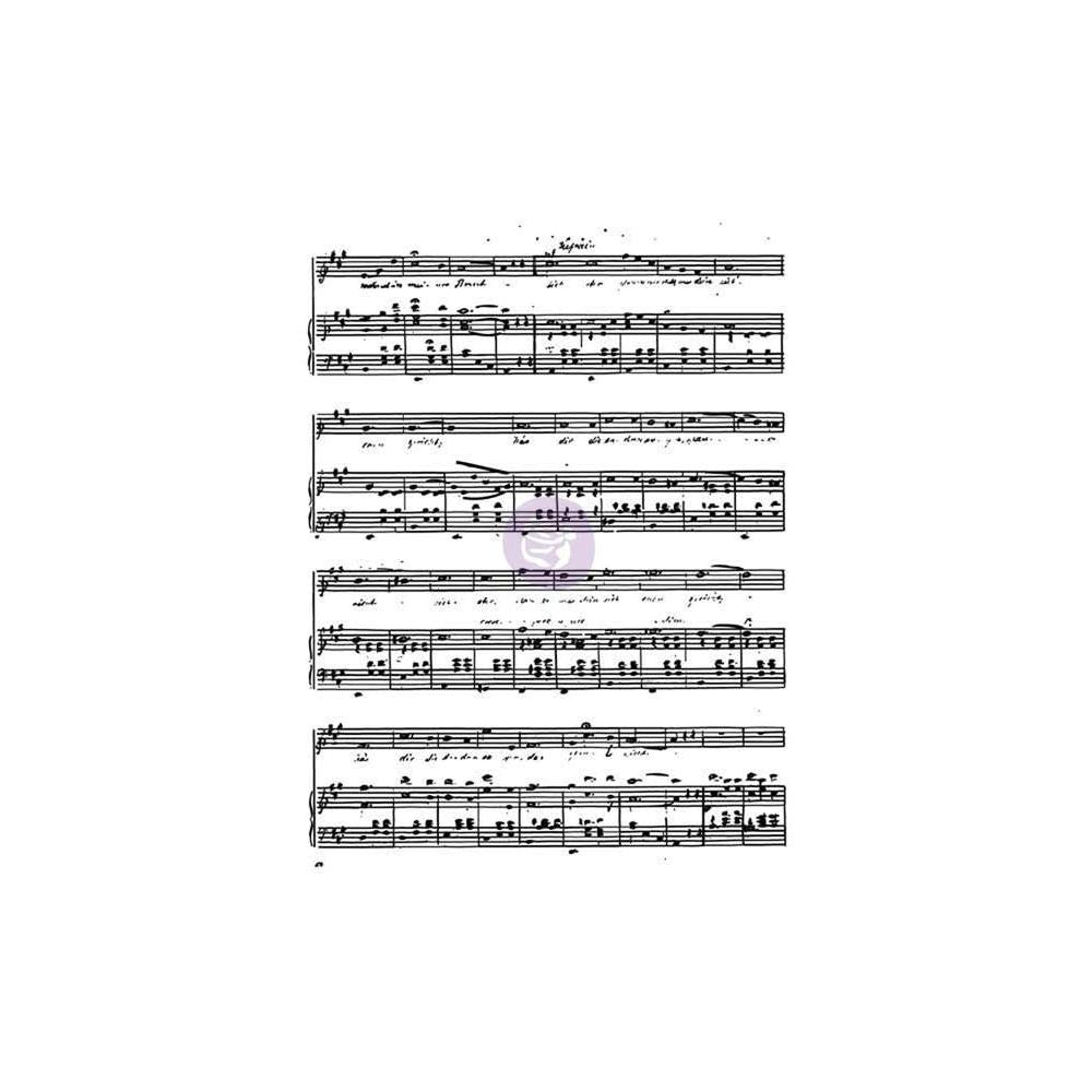 "Music to my Ears Finnabair Clear Stamp 3""X4"" - Artified Shop"