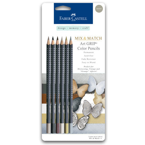 Neutral - Mix & Match Art GRIP Color Pencils 6/Pkg