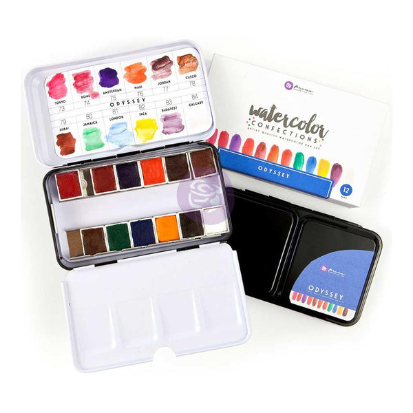 Odyssey Prima Watercolor Confections Watercolor Pans 12/Pkg