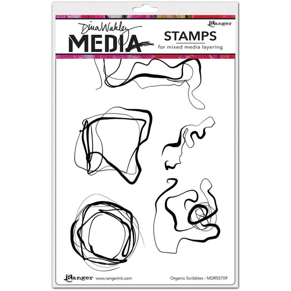 "Dina Wakley Media Cling Stamps 6""X9"" - Organic Scribbles"