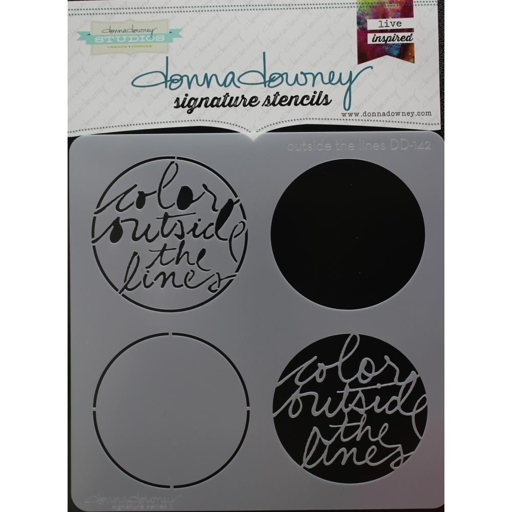 "Outside the Lines Donna Downey Signature Stencils 8.5""X8.5"" - Artified Shop"