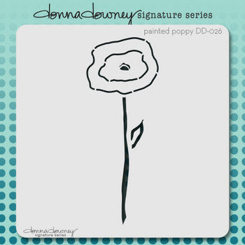 Painted Poppy Stencil - Donna Downey - Artified Shop