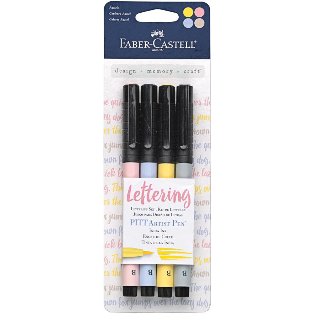 Pastel Mix & Match PITT Artist Brush Pens 4/Pkg