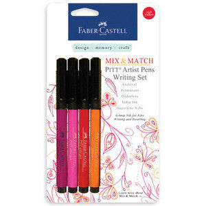 Mix & Match Pitt Artist Pens Writing Set 4/Pkg - RED YELLOW