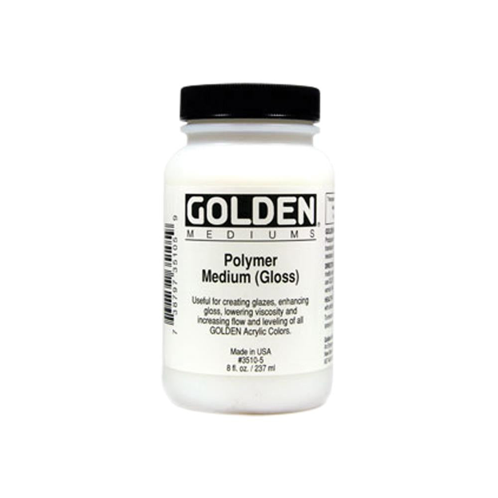 Polymer Gloss Medium - 8oz - GOLDEN MEDIUMS