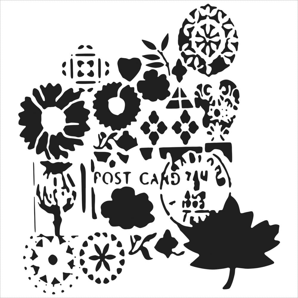 "Postcard Crafter's Workshop Template 12""X12"""