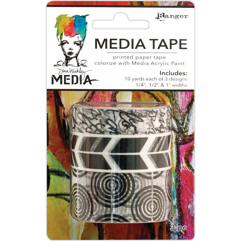 Printed Dina Wakley Media Tape 3/Pkg - Artified Shop