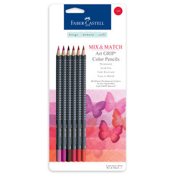 Red - Mix & Match Art GRIP Color Pencils 6/Pkg