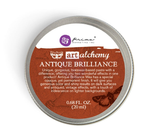 Finnabair Art Alchemy Antique Brilliance Wax .68 Fluid Ounce - Red Amber - Artified Shop
