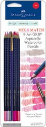 Red Mix & Match Art GRIP Aquarelle Watercolor Pencils 9/Pkg