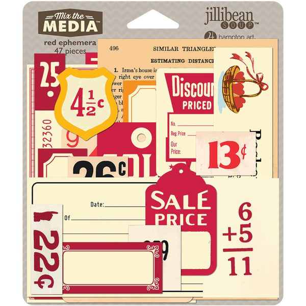 Red Mix The Media Ephemera Pack - Artified Shop