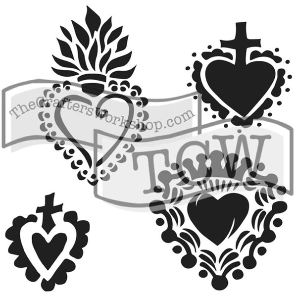 "Regal Hearts Crafter's Workshop Template 12""X12"""