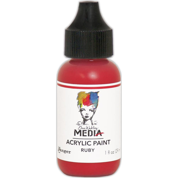 Dina Wakley Media Heavy Body Acrylic Paint 1oz - Ruby
