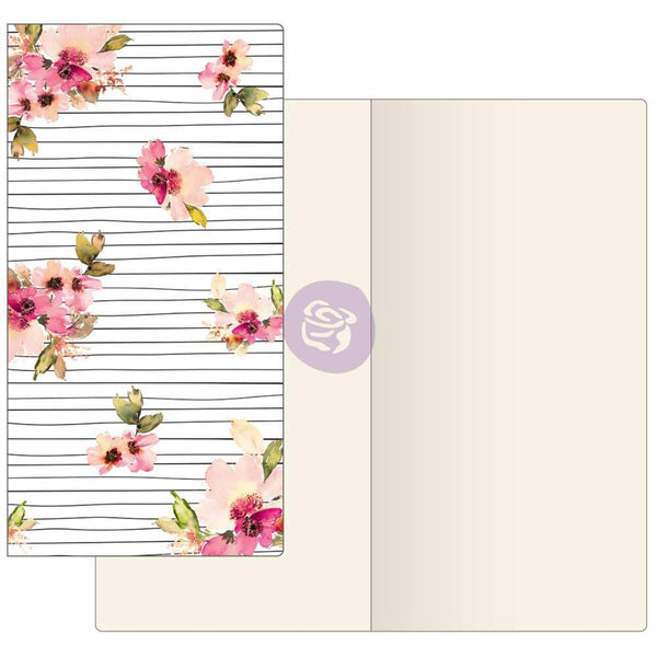 Scribble Lines Floral with Ivory Paper Prima Traveler's Journal Notebook Refill 32 Sheets - Artified Shop