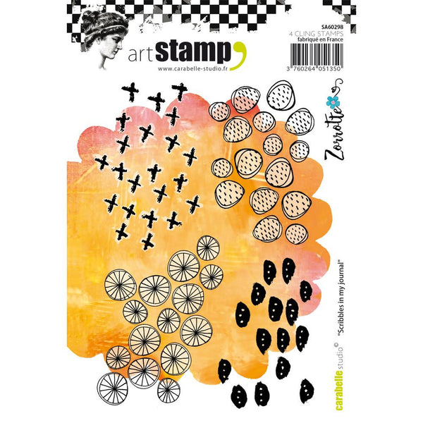 Scribbles in my Journal Carabelle Studio Cling Stamp A6 By Zorrotte - Artified Shop