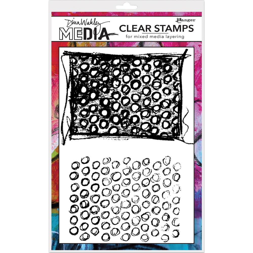Scribbly Circle Backgrounds Dina Wakley Media Clear Stamps - Artified Shop