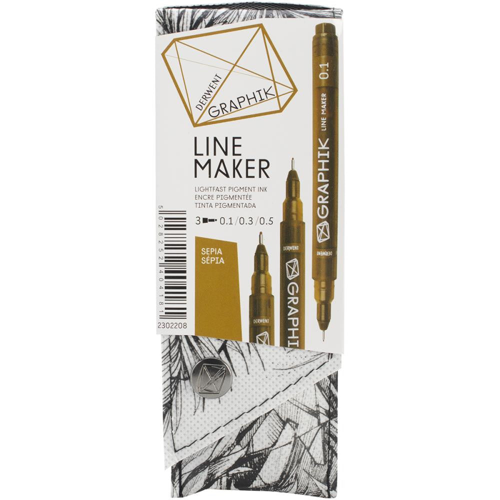 Sepia Graphik Line Maker Set 3/Pkg - Artified Shop