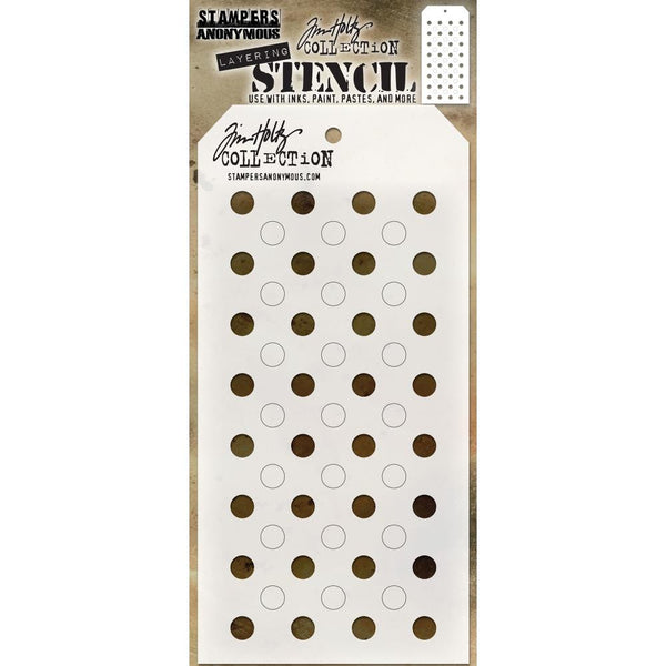 "Shifter Dots Tim Holtz Layered Stencil 4.125""X8.5"" - Artified Shop"