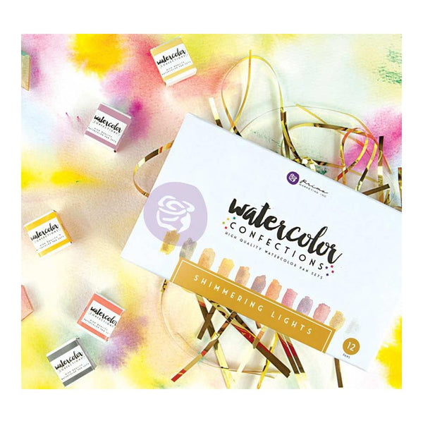 Prima Marketing Watercolor Confections Watercolor Pans 12/Pk - Shimmering Lights - Artified Shop