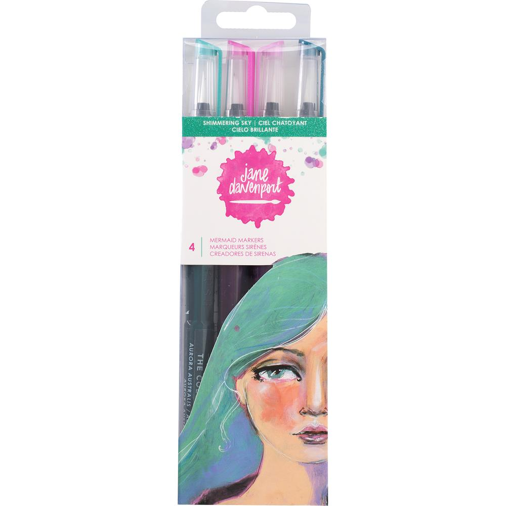Shimmering Sky Jane Davenport Mixed Media 2 Mermaid Markers 4/Pkg - Artified Shop