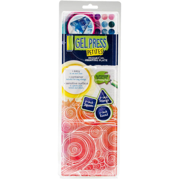 Gel Press Gel Petites 3/Pkg - Square, Triangle, Circle - Artified Shop
