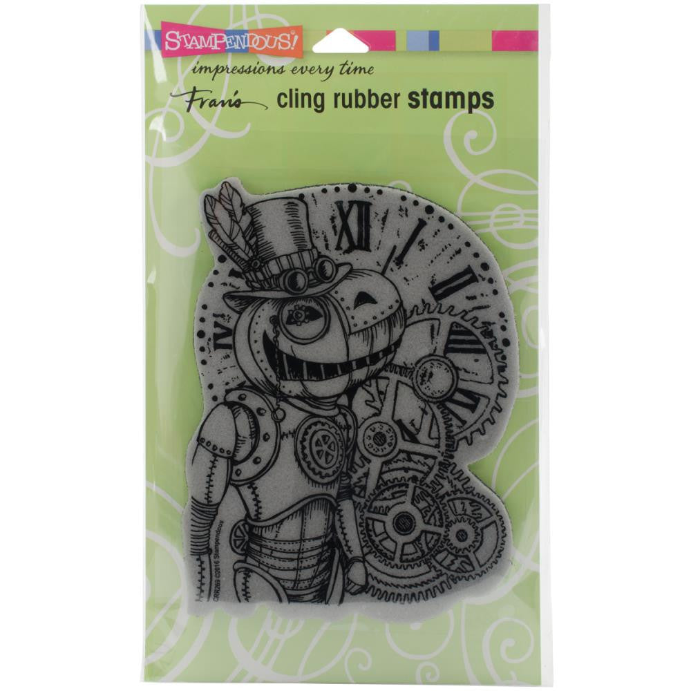 "Steam Pumpkin Stampendous Cling Stamp 6.5""X4.5"" - Artified Shop"
