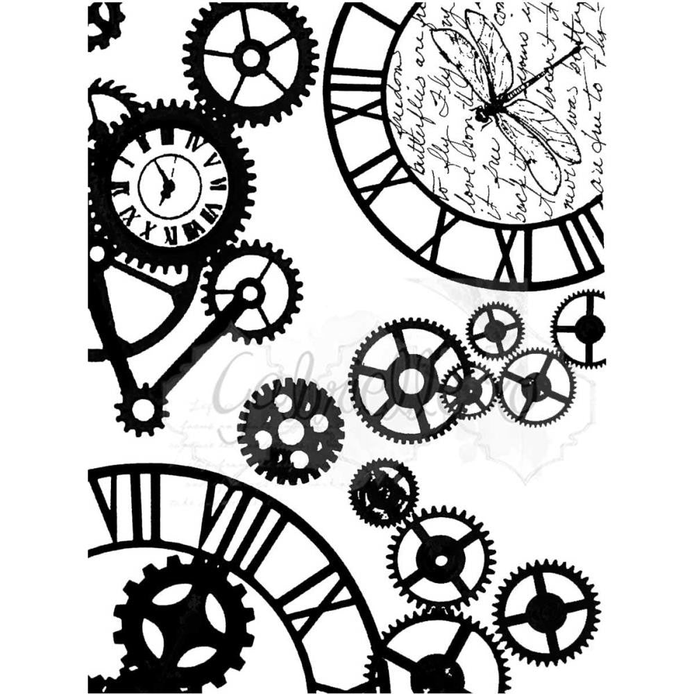 "Steam Punk Stylin 49 & Market Clear Stamps 3""X4"""