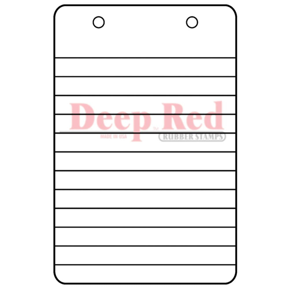 "Notebook Steno Paper Deep Red Cling Stamp 2""X3"" - Artified Shop"