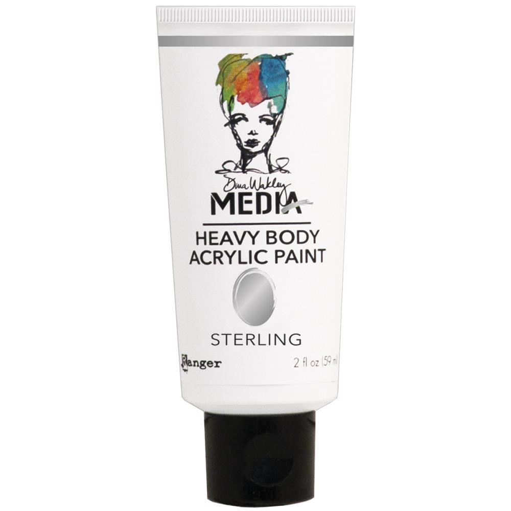 Sterling Dina Wakley Media Heavy Body 2oz Metallic Acrylic Paints