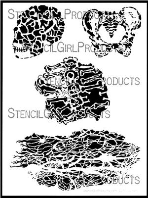 "Sticks and Bones Stencil 9x12"" - Artified Shop"