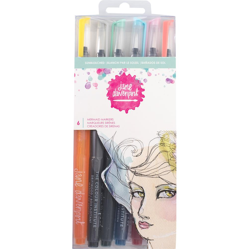 Sun Bleached Jane Davenport Mixed Media 2 Mermaid Markers 6/Pkg - Artified Shop