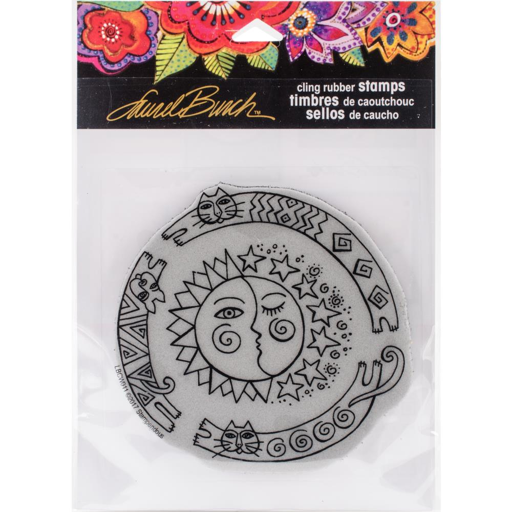 Stampendous Laurel Burch Cling Stamp - Sun Chase - Artified Shop