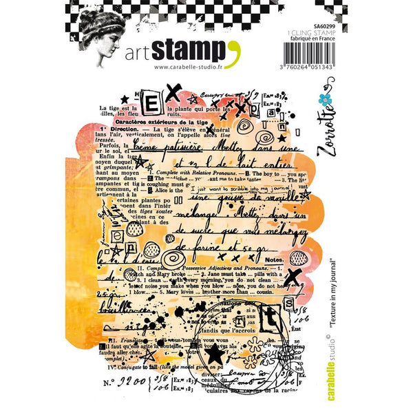 Texture in my Journal Carabelle Studio Cling Stamp A6 By Zorrotte - Artified Shop