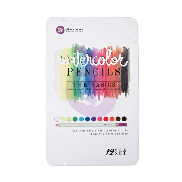 The Basics Prima Mixed Media Watercolor Pencils 12/Pkg