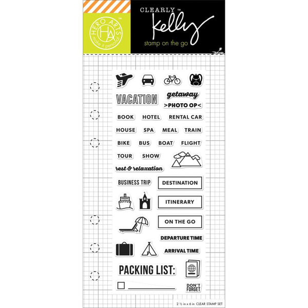 "Kelly Purkey Clear Stamps 2.5""X6"" - Travel Planner"