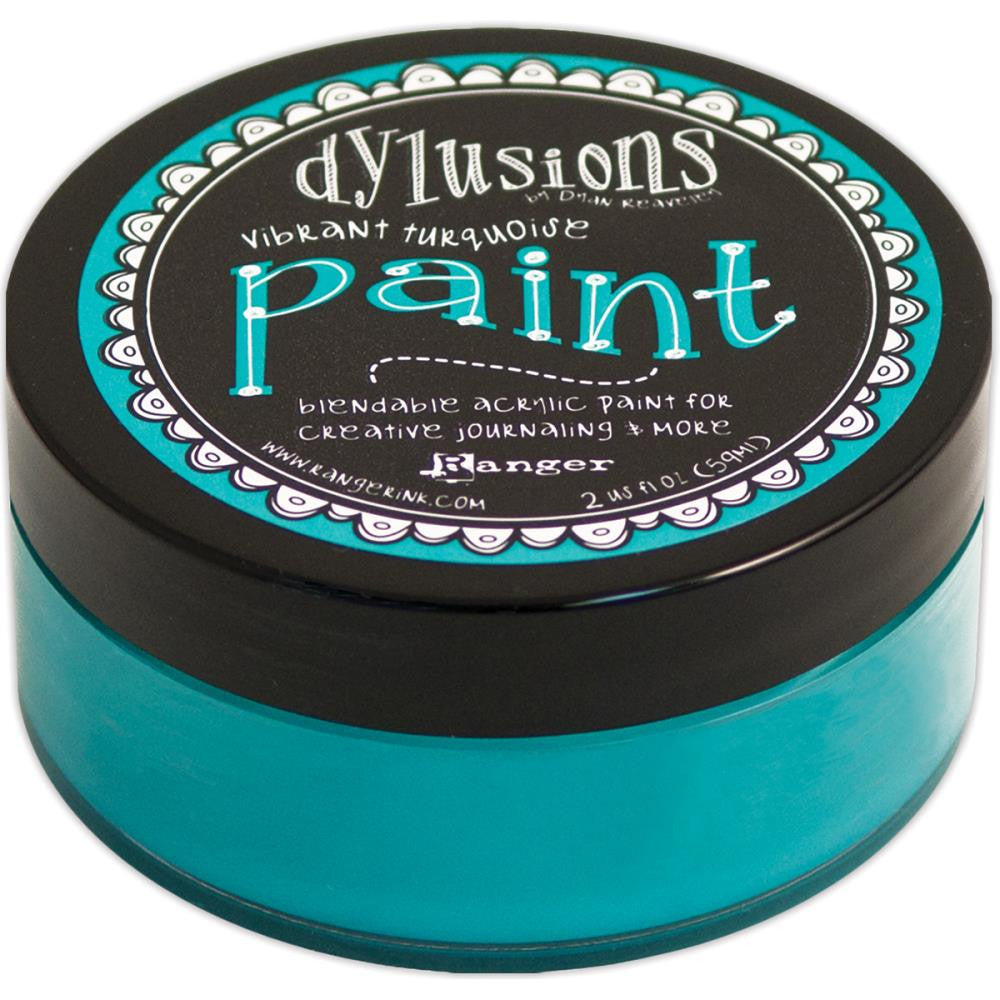Vibrant Turquoise Dyan Reaveley's Dylusions Paint 2oz - Artified Shop