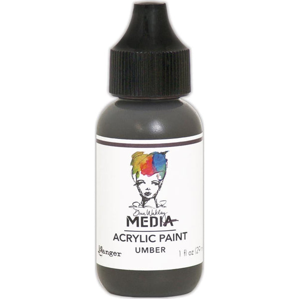 Dina Wakley Media Heavy Body Acrylic Paint 1oz - Umber