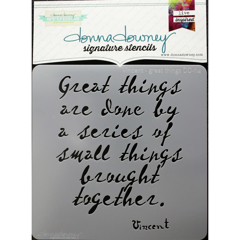 "Vincent Great Things Donna Downey Signature Stencils 8.5""X8.5"" - Artified Shop"