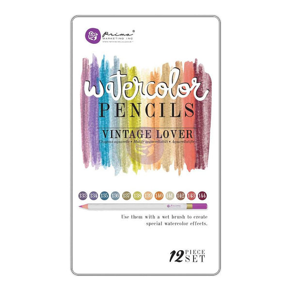 Prima Marketing Mixed Media Watercolor Pencils 12/Pkg - Vintage Lover - Artified Shop