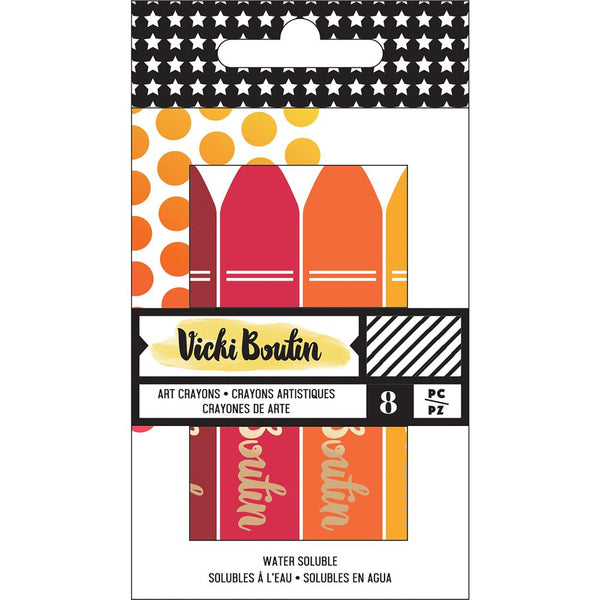 #1 Warm Vicki Boutin Mixed Media Oil Pastel Art Crayons 8/Pkg - Artified Shop  [product_venor]