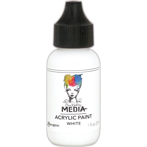Dina Wakley Media Heavy Body Acrylic Paint 1oz - White