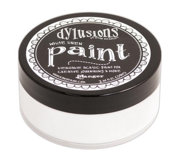 White Linen Dyan Reaveley's Dylusions Paint 2oz - Artified Shop