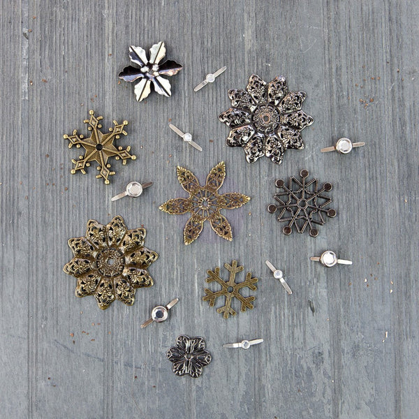 Finnabair Mechanicals Metal Embellishments - Winter Trinkets - Artified Shop