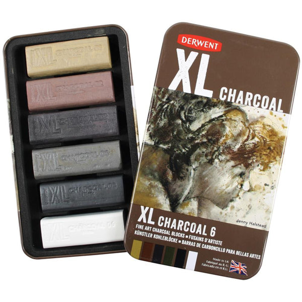 XL Charcoal Blocks 6/Tin - Artified Shop