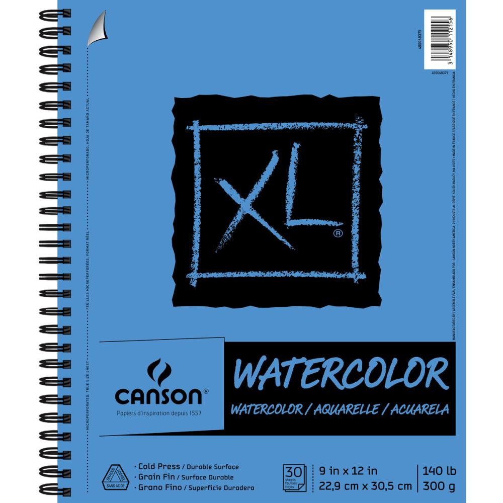 "Canson XL Watercolor Pad 9""X12"" - 30 sheets"