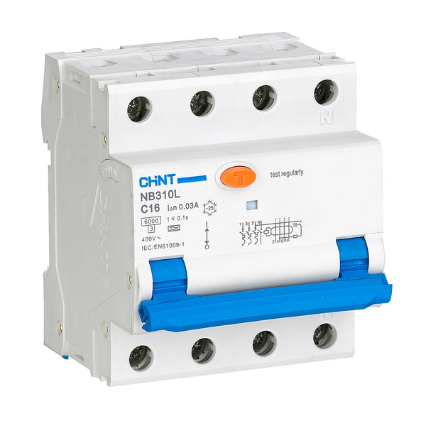 CHINT RCBO Type A RCCB, Type C MCB, 30mA pulsating DC-sensitive (16A or 32A, 2 Pole or 4 Pole Variants Available)